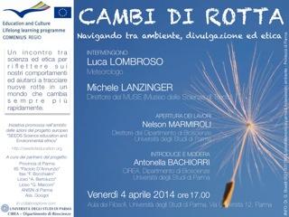 1-4 aprile 2014: Etica ed ambiente: una delegazione spagnola in visita a Parma nell'ambito del Progetto europeo SEEDS - SciencE Education anD environmental ethicS